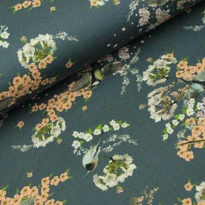 Megan Blue Fabrics Asian Birds - Jeans - French terry