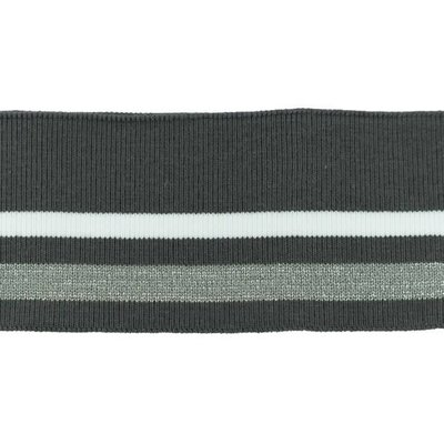 Cuff Two Stripes - Donkergrijs-Wit