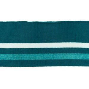 Cuff Two Stripes - Petrol-Wit