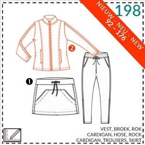 Abacadabra - Vest, broek, rok 198 - patroon