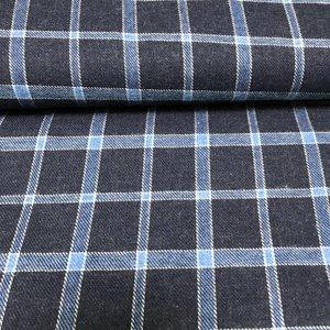 Agder blauw - flanel (LMV)