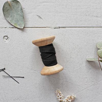 Biais Crêpe Atelier Brunette Black