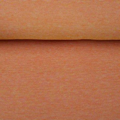 Stenzo - Fijne streepjes - oranje - tricot