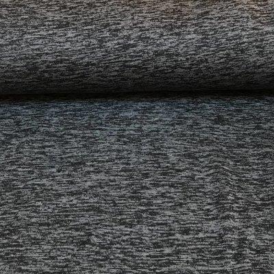 Gebreide fleece - donkergrijs