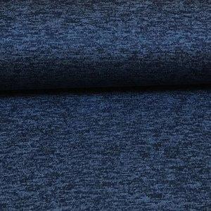 Gebreide fleece - blauw