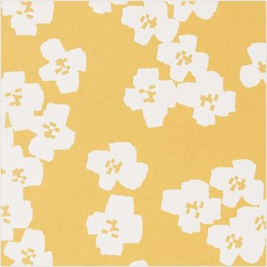 Rico Design - Gele bloemen - Gelamineerde katoen