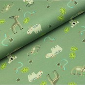 Megan Blue Fabrics - Funny Grey Animal - Tricot