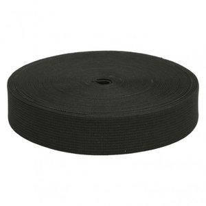 Elastische tailleband -zwart (2,00 cm)