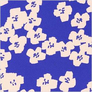 Rico Design - Bloemen blauw - Katoen