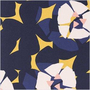 Rico Design - Bloemen mosterd - Katoen