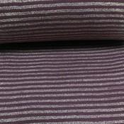 Albstoffe - Boordstof - Glitter stripes bordeaux & goud