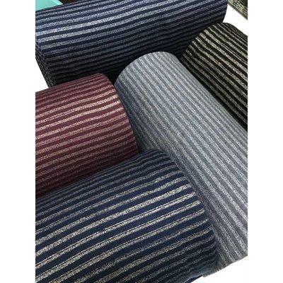 Albstoffe - Boordstof - Glitter stripes blauw & goud