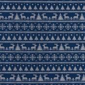 God jul - blauw - tricot