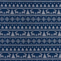 God jul - blauw - tricot
