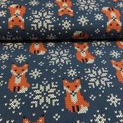 Vosjes - blauw - tricot
