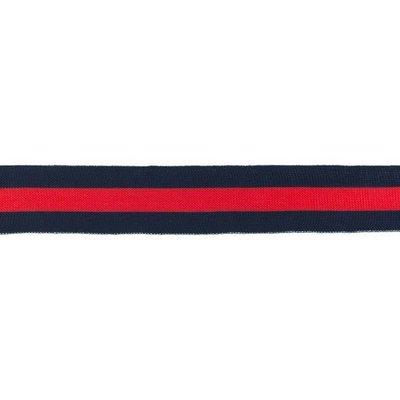 Broekstreep Marineblauw-rood