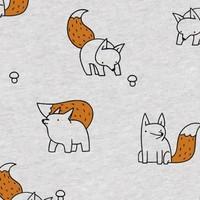 Foxes - Golden foil  - Tricot