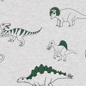 Dino - green foil - Tricot