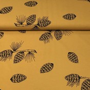 Bloome - Pine Cones - Ochre - Biotricot