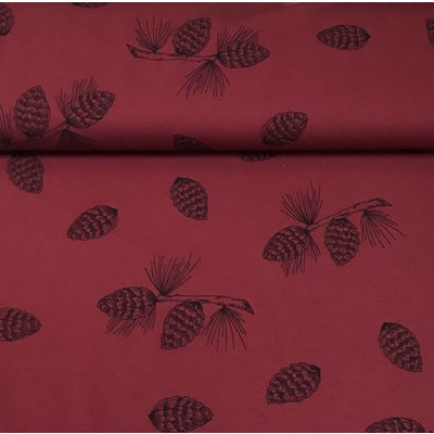 Bloome - Pine Cones - Bordeaux - Bio french terry