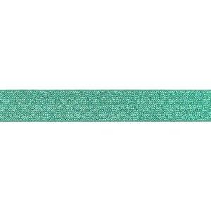 Elastische tailleband - Glitter Donker mint & Zilver (2,50 cm)