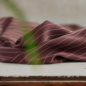 Meet Milk - Tencel - Pin stripe twill - Raisin