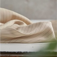 Meet Milk - Tencel - Pin stripe twill - Ivory