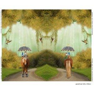 Stenzo - Paard met parasol - Tricot paneel