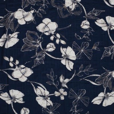 Viscose-Katoen - Flowery