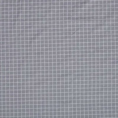 Poplin checks - grijs