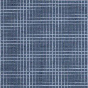 Poplin checks - hemelsblauw