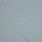Poplin checks - lichtblauw