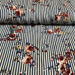 Flower Stripe - Viscose