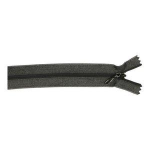 Blinde rits - 22 cm - zwart