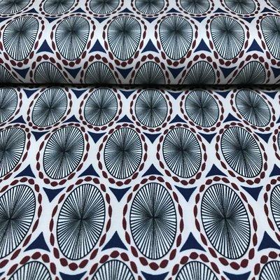 Bolano blauw - Stretchkatoen