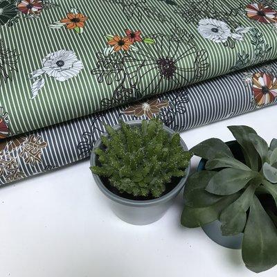Abano groen - Stretchkatoen
