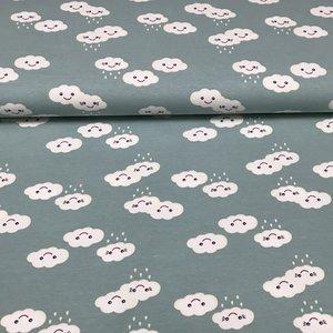 Megan Blue Fabrics - Rainy clouds - Tricot