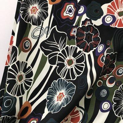 Wild Flowers - Stretchkatoen