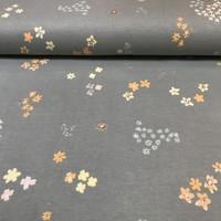 Rico Design - Shiny Flowers Grey - Tricot