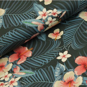 Megan Blue Fabrics - Tropical Leaves - Tricot