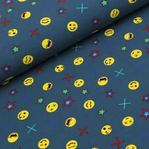 Megan Blue Fabrics - Happy Emoji - Tricot