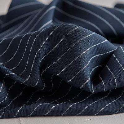 Meet Milk - Tencel pin stripe piqué - navy