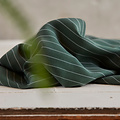 Meet Milk - Tencel pin stripe piqué - Deep Green