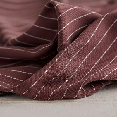 Meet Milk - Tencel pin stripe piqué - Raisin