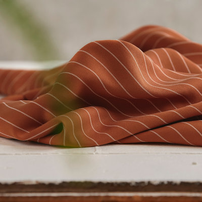 Meet Milk - Tencel pin stripe piqué - Rust