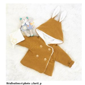 Ikatee - Grand'Ours Cardigan Baby - Patroon