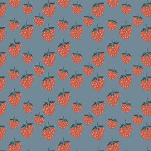 Elvelyckan - Strawberries blue - biotricot