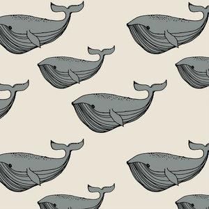 Elvelyckan - Whale Grey cream - biotricot