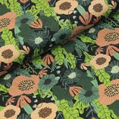 Megan Blue Fabrics - Anemonen - Tricot