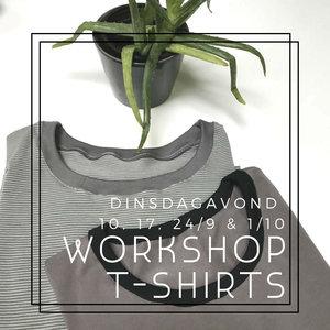 Workshopreeks T-shirt I Dinsdagavond 10/9, 17/9, 24/9 & 1/10/2019